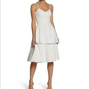 Dress the Population White tiered Dress